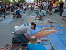 Chalk Art Festival Stock Photo