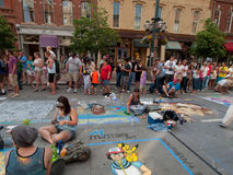Chalk Art Festival Stock Image