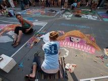 Chalk Art Festival Stock Photography