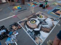 Chalk Art Festival. Denver, Colorado-June 4, 2011: Chalk art Festival on larimer Square Stock Images