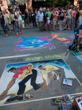 Chalk Art Festival Royalty Free Stock Photography