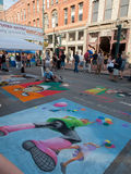 Chalk Art Festival Royalty Free Stock Photo