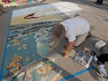 Chalk Art Festival Stock Image