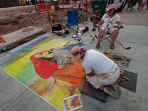 Chalk Art Festival Stock Photo