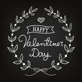 Chalk art Valentine's Day card Royalty Free Stock Image