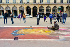Chalk Artist, Paris France Royalty Free Stock Photo