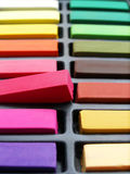 Chalk artist pastels colorful royalty free stock photos