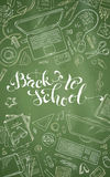 Chalk Back to School Background. Royalty Free Stock Photography
