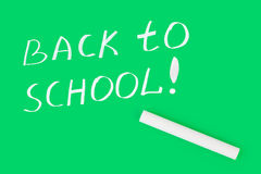 Chalk and Back to school on blackboard Stock Images