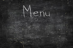 Chalk on black board: Menu Royalty Free Stock Image