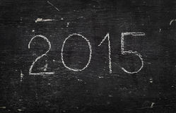 Chalk on black board: 2015 Stock Images
