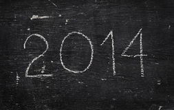 Chalk on blackboard: 2014 Stock Image