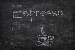 Chalk on blackboard: Espresso Stock Photos