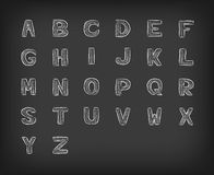 Chalk Blackboard Font Vector Stock Photo