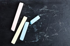 Chalk and blackboard Royalty Free Stock Photo