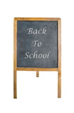 An chalk board  with back to school word Royalty Free Stock Photos