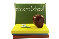 Chalk board and books Royalty Free Stock Images