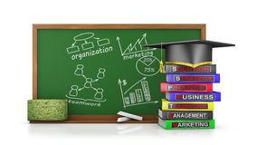 Chalk board  for business training Stock Image