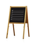 Chalk board with checkbox Royalty Free Stock Photo