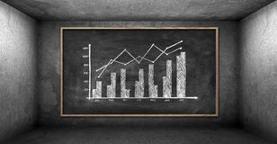 Chalk board with drawing chart Stock Photos