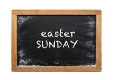 Chalk board with Easter Sunday message Royalty Free Stock Images