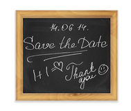 Chalk board in frame Royalty Free Stock Photos