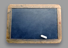 Chalk board. On grey with white chalk Stock Image