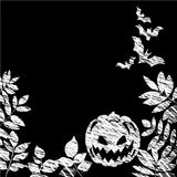 Chalk board with a Halloween theme. Vector Stock Photo