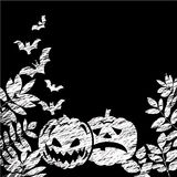 Chalk board with a Halloween theme. Vector Royalty Free Stock Photography