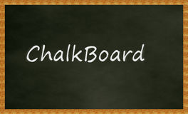 Chalk Board Illustration Royalty Free Stock Photography