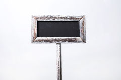 Chalk board. Isolated on a white background Stock Image