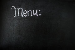 The chalk board menu for a bar or cafe .The drawing on a blackboard Royalty Free Stock Images