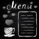 Chalk board. Menu for cafe, restaurant Stock Photo
