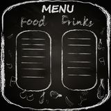The chalk board menu stock illustration