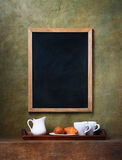 Chalk board menu Stock Photo