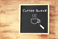 Chalk board with the phrase coffee break Royalty Free Stock Images