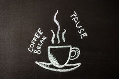 Chalk board with the phrase coffee break Royalty Free Stock Image