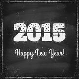 2015 on chalk board Royalty Free Stock Images