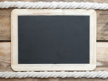 Chalk board and rope Royalty Free Stock Image