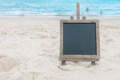Chalk board sand beach tropic exotic background Royalty Free Stock Image