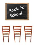 Chalk Board. A school chalk board with chalk stains Stock Photos