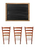 Chalk Board. A school chalk board with chalk stains Royalty Free Stock Photography