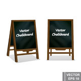 Chalk board. School. Training. Green and black. For your design. Stock Photo