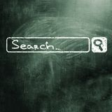 Chalk board. Search string on chalk board Royalty Free Stock Image