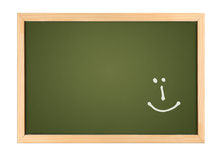 Chalk board with smilie Royalty Free Stock Photo