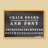 Chalk board. Vector Chalk Board and chalk font Vector Illustration