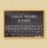 Chalk board. Vector Chalk Board and chalk font Stock Illustration