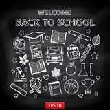 Chalk board Welcome back to school Royalty Free Stock Images