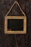 Chalk board with wood frame. Royalty Free Stock Images