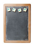 Chalk board and the word menu for restaurants bars. Royalty Free Stock Image